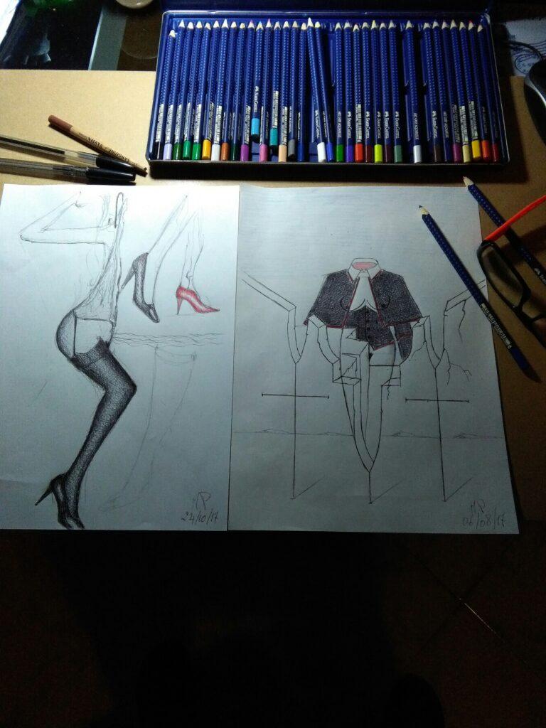 Pasquale Mastrogiacomo, disegni in corso.