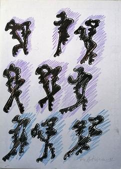 Le chiavi di Pio Mastrogiacomo, 1999 disegno su foglio A4, Pio Mastrogiacomo