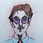 Ritratto di uno sconosciuto, 2021 disegno a penna su foglio bianco, Pasquale Mastrogiacomo.