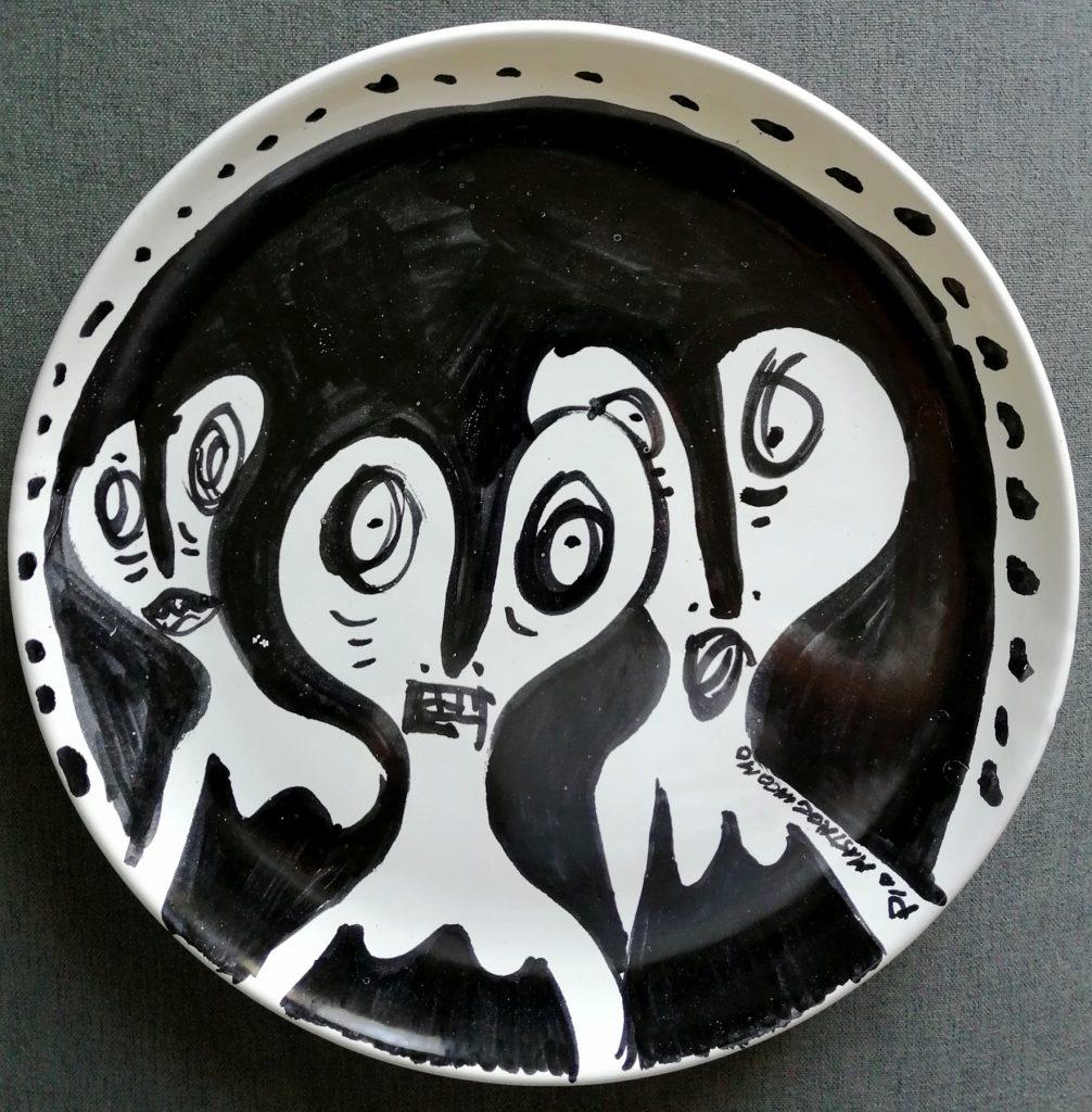 Inquietudine, 1995 ceramica artistica, Pio Mastrogiacomo.