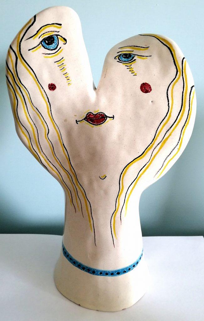Volto di donna, 1995 ceramica artistica, Pio Mastrogiacomo