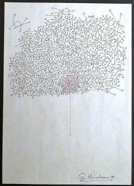 Le chiavi di Pio Mastrogiacomo, disegno a penna su foglio A4, 1989