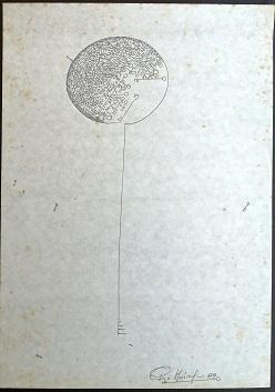 Le chiavi di Pio Mastrogiacomo, disegno a penna su foglio A4, 1989.